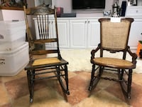 Two True Antique ( 100   years old) Rocking Chairs Springfield