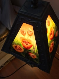 Hand painted table lamp  Leamington