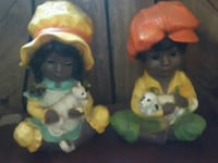 two yellow and orange ceramic figurines Taylorsville, 39168