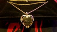 Gold plated heart necklace engraved with rose  Colorado Springs, 80909