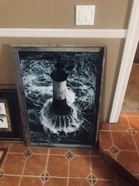 Large light house pictures with drift wood frame Destin, 32541