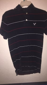 black and white stripe polo shirt San Antonio, 78245