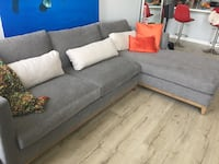 Gray fabric sectional sofa with throw pillows Los Angeles, 90027