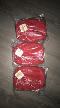 Supreme fw18 shoulder bags red 545 km