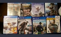 Eight PS4 Games - will sell seperately  Rocky Mount, 27804