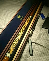 Hand carved vintage pool cue