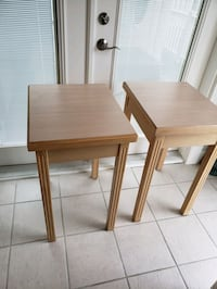 2 Quality Solid Wood with Formica Top Tall Side Tables. Price is FIRM. Norfolk, 23503