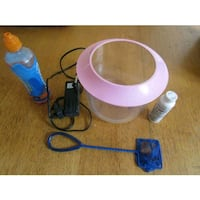 Plastic fish tank with accessories  London