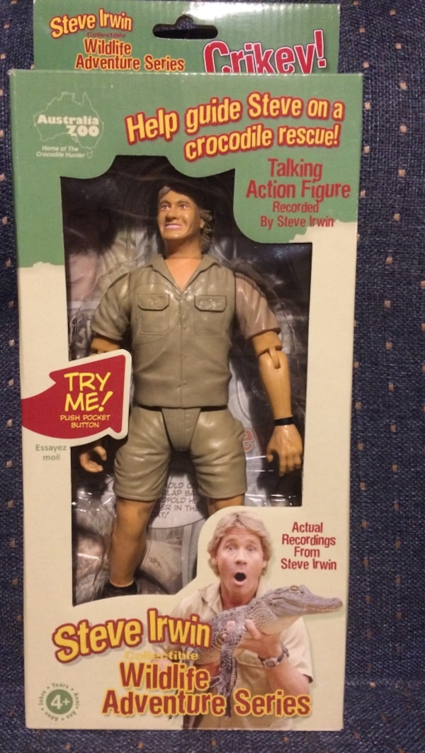 Steve Irwin action figure in box