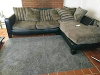 gray and black sectional couch