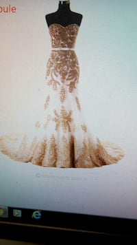 brown and white floral sweetheart neckline strapless dress