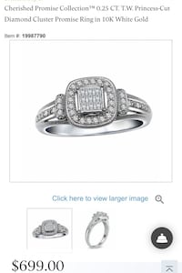 Diamond ring from Peoples jewellers for sale Mississauga