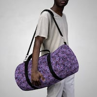 Purple grapes gym bag