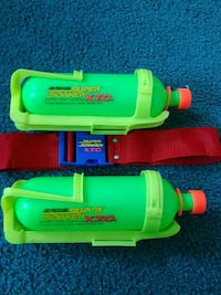 Supersoaker refills containers with belt.  Milford, 01757