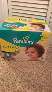 Pampers Swaddlers disposable diaper box