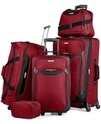 """Tag 5 piece luggage set red 27"""" West Chicago, 60185"""