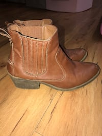 Cognac brown ankle boots sz 7 19 km