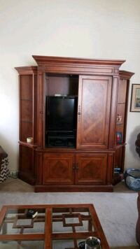 Entertainment Center and Shelves