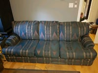 gray and blue fabric 3-seat sofa Markham, L3P 1N8