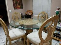 Vintage Beautiful  Dinning set, 4chairs ,strong