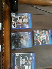 four assorted PS4 game cases El Paso, 79912