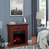 Electric Fireplace Heater Bold Flame 28 inch Chestnut Indoor Living Room Book Tv Stand freestanding Henderson