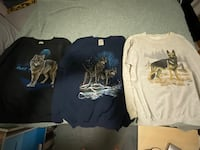 Cotton Grove Designs wolf and dog sweatshirts size xl North Las Vegas, 89031