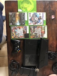 black Xbox 360 game console with game cases Odessa, 79762
