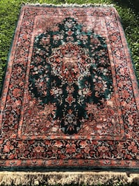 black and brown floral area rug Warminster, 18974