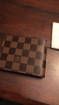 Damier Ebene Louis Vuitton leather bi-fold wallet Beaumont, 92223