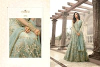 women's blue and gold floral anarkali dress collage Ludhiana, 141008