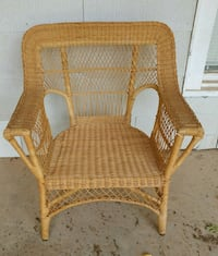 Large vintage wicker chair.