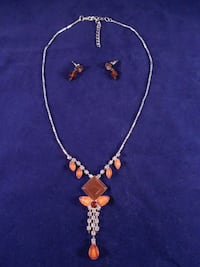 gold-colored necklace with earrings Toronto, M6L 1A4