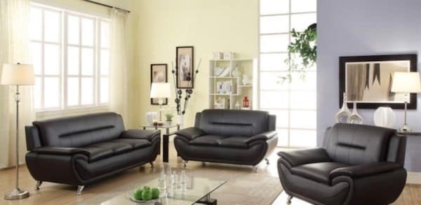 Swell Black Leather Sofa Set With Coffee Table Machost Co Dining Chair Design Ideas Machostcouk