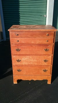 Solid Maple  (4) Drawer Chest ready to refurbish