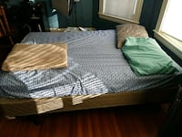 brown wicker bed frame and mattress Winthrop, 02152