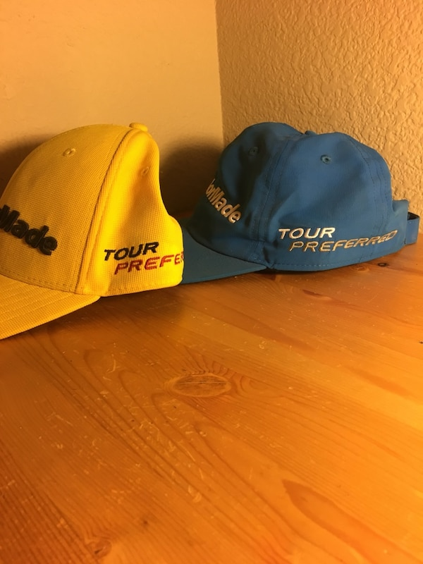 Used Blue and yellow adjustable taylormade golf hat combo for sale ... 90144fd3dc6f
