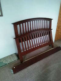 brown wooden bed headboard and footboard Wilder, 41071
