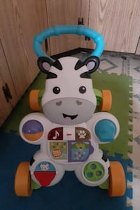 Push and play assisted walking toy