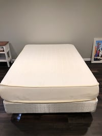 white bed mattress with white bed frame Fairfax, 22030