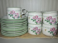 Studio Nova Garden Bloom Set with 10 Cups & 10 Saucers Whitchurch-Stouffville