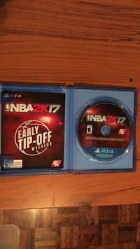 Sony PS4 NBA 2K17 disc with case Vaughan, L4H 1C0