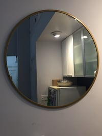 Project 62 - Round Decorative Wall Mirror - Brass New York, 10023
