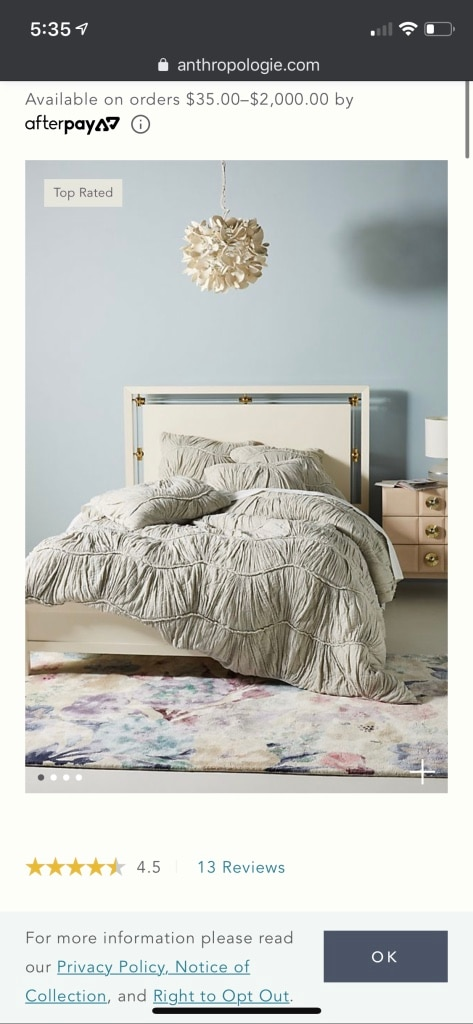 Photo Anthropologie Ruched Wave Quilt