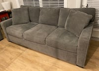 """Two (2) 86"""" Grey Fabric Sofas for sale! $550 each or DM best offer! Charlotte, 28277"""