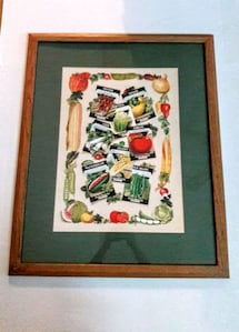 Farmhouse seed package picture / wall art