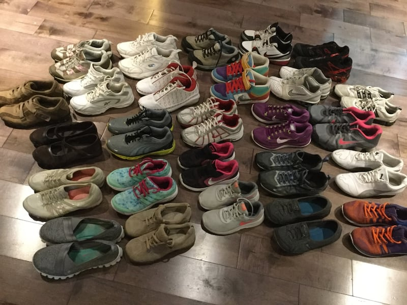 26 pairs of brand shoes Nike, puma, Reebok, Skechers, adidas,... 0