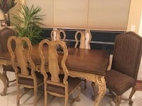 Brown wooden dining table set Boca Raton, 33496