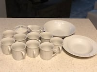 JC Penny Home Collection Embossed Italiana Porcelain Dinnerware Set