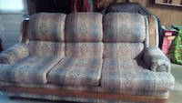 blue and white fabric 3-seat sofa Charles Town